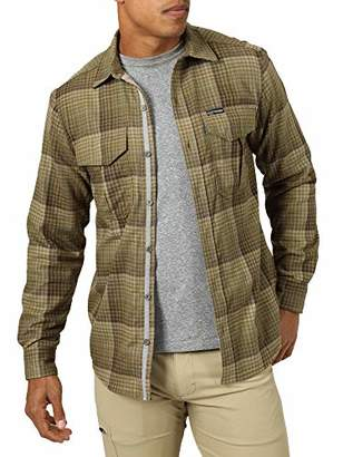 Wrangler ATG by Men's Thermal Lined Flannel Shirt
