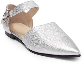 Freda Salvador Sloan Leather Metallic Flat