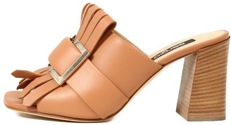 Sergio Rossi Mule Sandal With Fringes