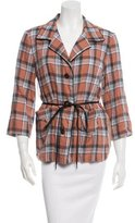 Dries Van Noten Plaid Button-Up Top