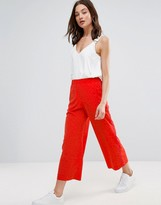 Helene Berman Burnout Animal Print Palazzo Pants