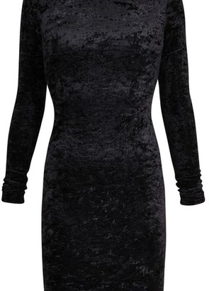 Balenciaga Long sleeve velvet Cycling dress