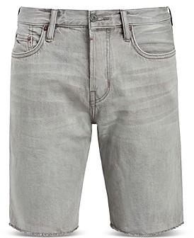 AllSaints Switch Cotton Distressed Denim Shorts