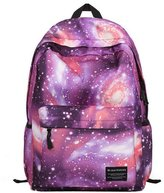 Aivtalk Unisex Leisure Galaxy Pattern School Backpack Middle School Student Bag with Laptop Compartment