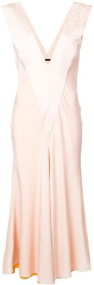 Haider Ackermann Draped V-Neck Dress