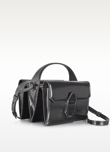Alexander Wang Racketeer Satchel in Black Leather