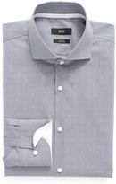 BOSS Men's Slim Fit Easy Iron Microcheck Dress Shirt