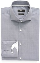 BOSS Slim Fit Easy Iron Microcheck Dress Shirt