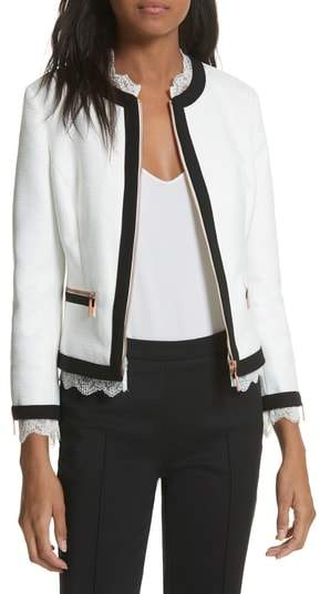 Ted Baker Lace Trim Crop Jacket
