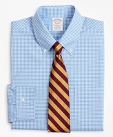 Brooks Brothers Stretch Soho Extra-Slim-Fit Dress Shirt, Non-Iron Poplin Button-Down Collar Gingham