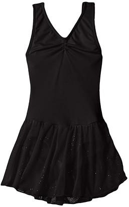 Capezio Pinch Front Tank Dress (Toddler/Little Kids/Big Kids) (Black) Girl's Jumpsuit & Rompers One Piece