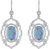 Penny Preville 18k Opal & Diamond Arabesque Drop Earrings