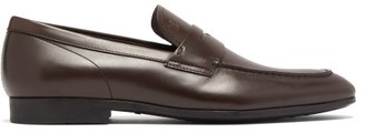 Tod's Leather Penny Loafers - Mens - Dark Brown
