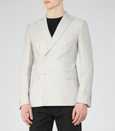 Reiss Ochea Wool And Linen Blazer