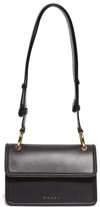 Marni Small Beat Leather Cross-body Bag - Womens - Black Multi