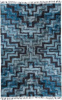 Jonathan Adler Blue and Navy Stepped Bridget Hand-Knotted Rug