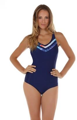 Seaspray 08-2100 Women's Crete Blue and Orange Shaping Swimsuit 22