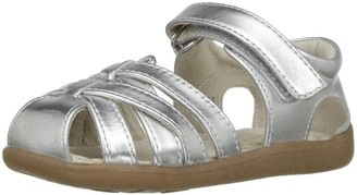 See Kai Run Girl's Camila Silver Sandal 9 M US Toddler