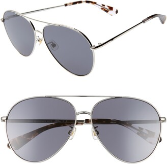 Kate Spade Carolane 61mm Special Fit Polarized Aviator Sunglasses