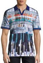 Robert Graham Johnny Collar Cotton T-Shirt
