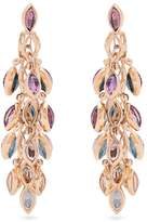MARIE MAS Reversible multi-stone & pink-gold earrings