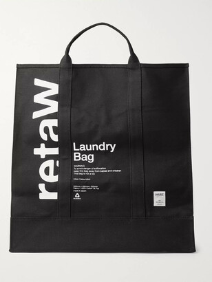 retaW Logo-Print Cotton-Canvas Laundry Bag