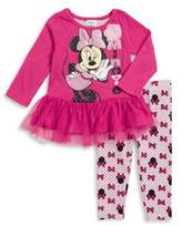 Nannette Baby Girl's Two-Piece Minnie Mouse Top & Pants Set