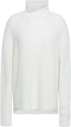 N.Peal Ribbed Cashmere Turtleneck Sweater