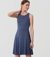 LOFT Eyelet Bodice Flare Dress