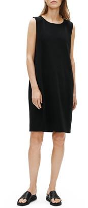 Eileen Fisher Jewel Neck Sleeveless Organic Cotton Shift Dress