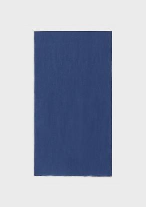 Emporio Armani Pleated Silk Blend Stole