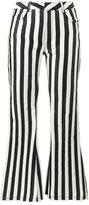 Marques Almeida Marques'almeida mid rise striped flared trousers