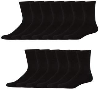 Hanes Men's FreshIQ X-Temp Active Cool Crew Socks, 12 + 1 Bonus Pack