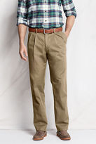 Lands' End Men's Regular Pleat Front Comfort Waist Original Chino Pants