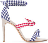 Alexandre Birman Clarita bow sandals - women - Cotton/Leather - 36