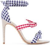 Alexandre Birman Clarita bow sandals - women - Cotton/Leather - 36