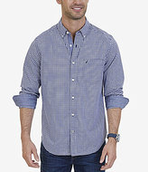 Nautica Classic Fit Gingham Stretch Cotton Long-Sleeve Shirt