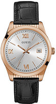 GUESS Analog Leather-Strap Dress Watch