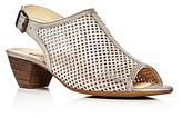 Paul Green Lois Metallic Perforated Slingback Sandals