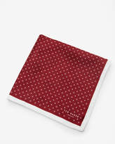 Ted Baker Micro Geo Print Pocket Square Red