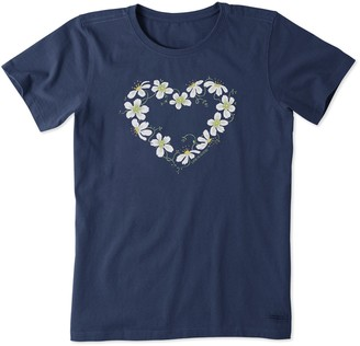 Life is Good Women's Floral Heart Crusher Tee