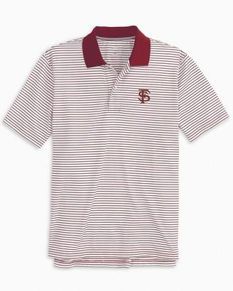 Southern Tide Florida State Seminoles Pique Striped Polo Shirt