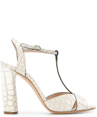 Casadei snakeskin effect sandals