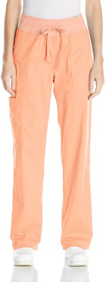 KOI Women's Morgan Ultra Comfy Yoga-Style Cargo Scrub Pants with Rib-Knit Waist