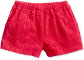 First Impressions Eyelet Cotton Shorts, Baby Girls (0-24 months), Only at Macy's