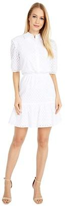 BB Dakota Private Eyelet Shirtdress (Ivory) Women's Dress