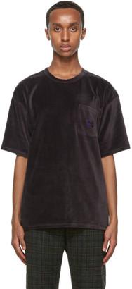Needles Grey Velour Pocket T-Shirt