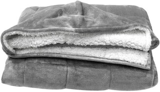 Pur Serenity Hooded Faux Shearling Reversible Throw Blanket