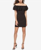 Jessica Simpson Off-The-Shoulder Ruffle Sheath Dress