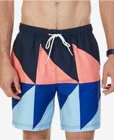 "Nautica Men's Triangular Colorblocked Drawstring 7 1/2"" Swim Trunks"